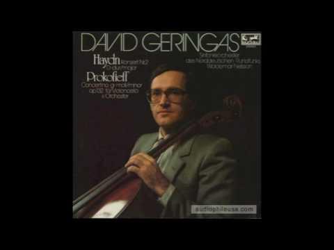David Geringas - Prokofiev Cello Concertino op. 132
