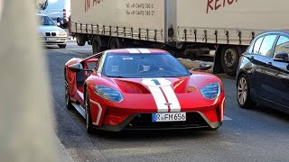 Ford Gt Start Up Fast Acceleration Car