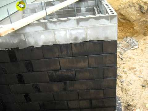 Dampproofing Foundation Walls Youtube