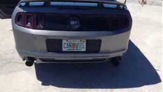 2013 Mustang GT Exhaust Pypes Off Road H-pipe with Pype Bomb axle back BAMA Tuned
