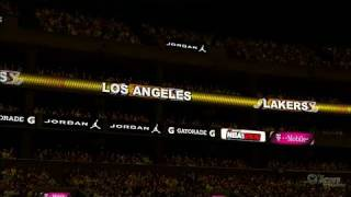 NBA 2K10 Xbox 360 Gameplay - Lakers Intro.