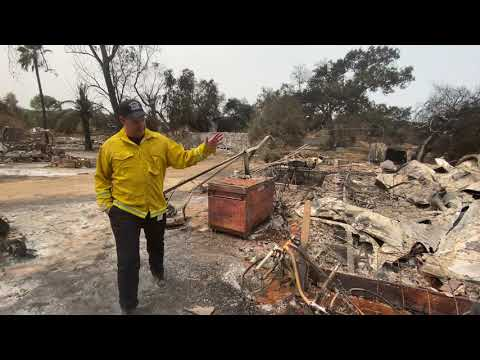 Surveying Damage From the Valley Fire