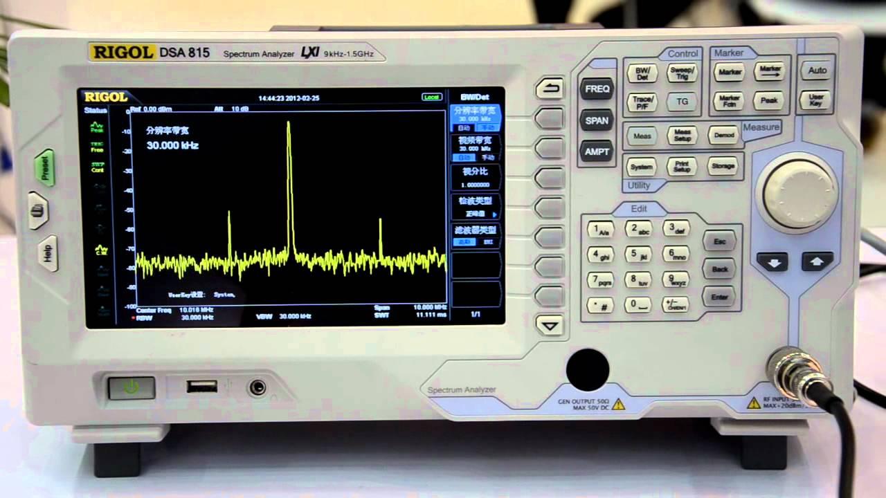 Rigol DSA815 Spectrum Analyzer