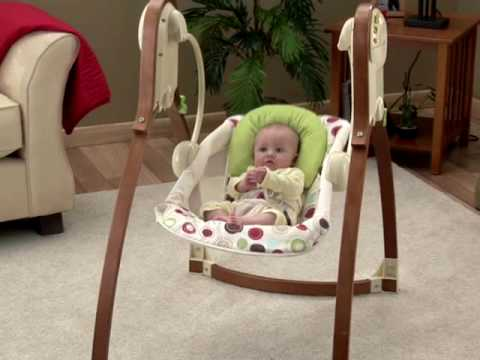 p6135 bentwood swing fr n fisher price youtube