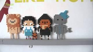 Personajes de El Mago de Oz con beads.
