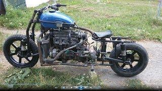 МОТОТАЗ. РАЗГОН ДО 100 и широкое колесо. Мотоцикл с двигателем от Ваз 2109.
