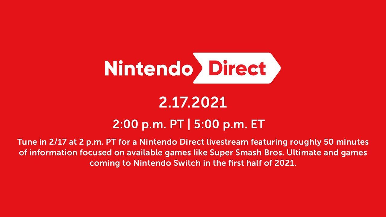 Nintendo Direct de 50 minutos é anunciado para essa quarta dia 17