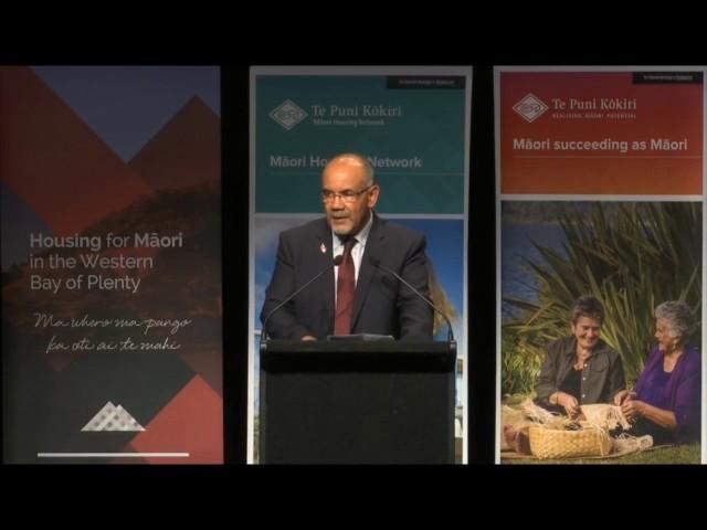 Tauranga National Māori Housing Conference 2016 - Hon. Te Ururoa Flavell