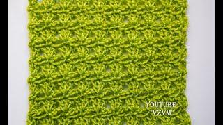 """Легкие узоры крючком для начинающих . Узор """"Сосновые лапки""""  Урок 46   Easy crochet for beginners"""