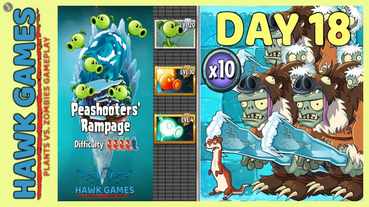 Plants vs Zombies 2 Peashooters' Rampage Frostbite Caves 18 [Special Delivery & Points]