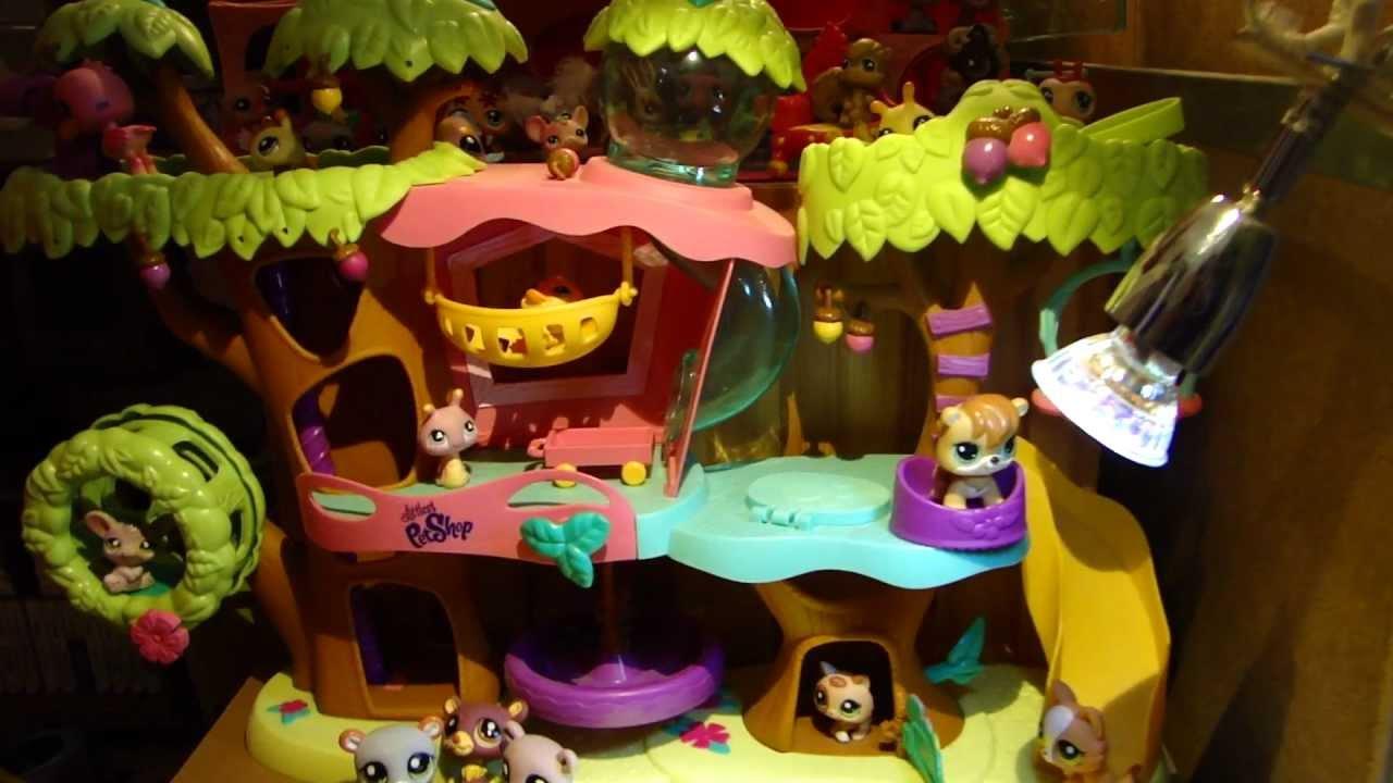 Littlest petshop l 39 arbre des petshop hasbro youtube for Arbre maison jouet