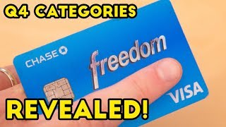 Chase Freedom Q4 5% Categories REVEALED!