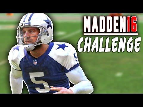 Dan Bailey Quarterback Sack! Madden 16 NFL Challenge - Punters VS Kickers