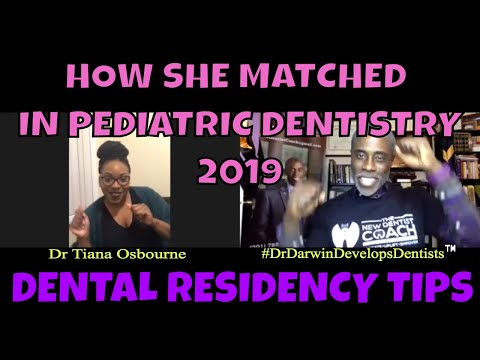 HOW SHE MATCHED IN PEDIATRIC DENTISTRY 2019 | NewDentistCoach Dr Darwin Hayes DDS