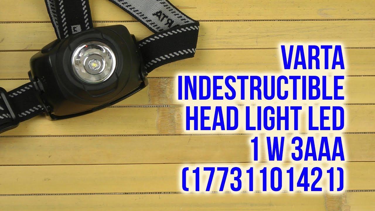 VARTA LED X5 Indestructible Head Light 3AAA 17730 m Batt.