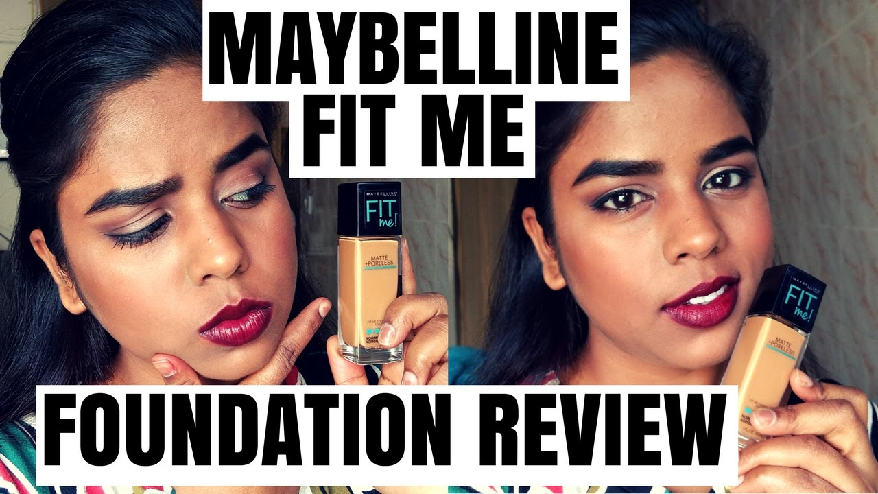 Maybelline Fit Me Matte And Poreless Foundation Review Youtube Airyrooms 30ml