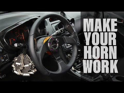 wiring diagram of a car horn 7 pin trailer connector diagrams hopkins new blade ep. 007 - how to make your work with an aftermarket steering wheel. youtube