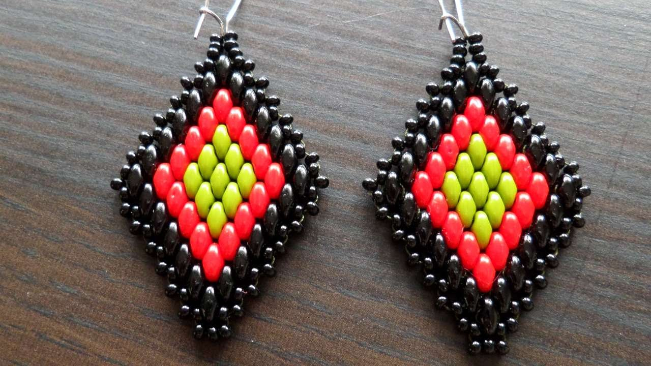 How To Assemble Diamond Shaped Beaded Earrings - DIY Style ...