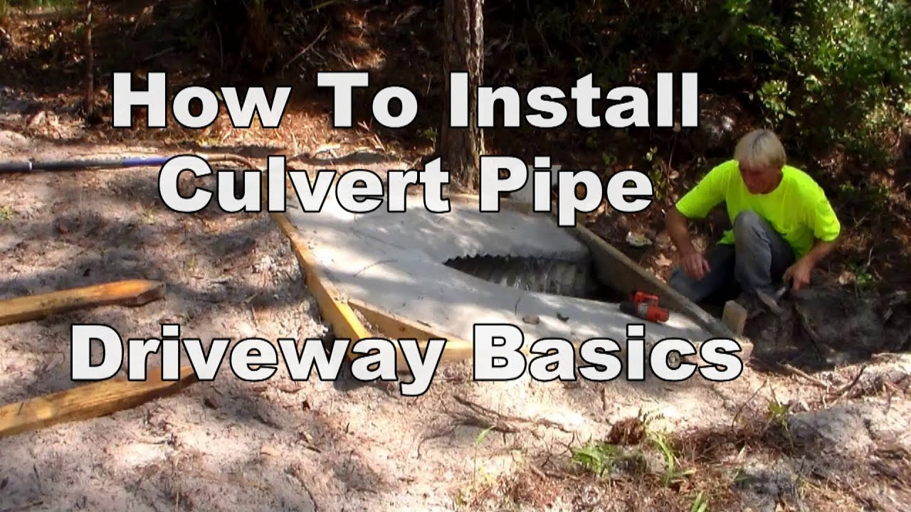 Culvert work driveway basics do it yourself project for culvert work driveway basics do it yourself project for homeowners youtube solutioingenieria Choice Image