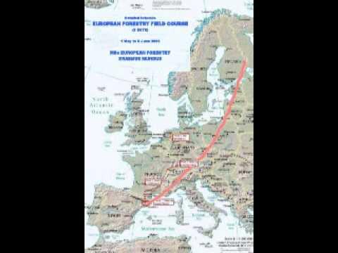 European Field Course Map