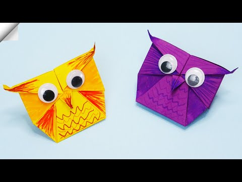 Easy paper toys   How to make a paper OWL