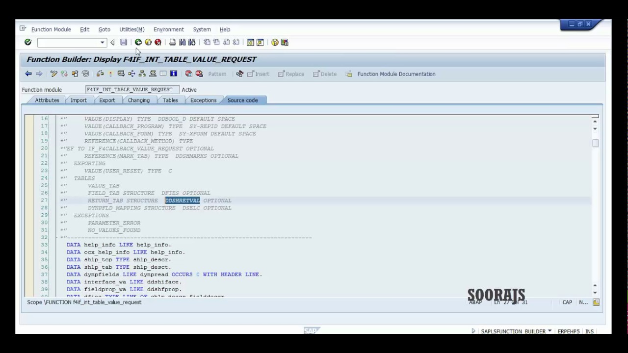SAP ABAP : F4 Help Selection Screen by Sooraj-2017 Tutorial