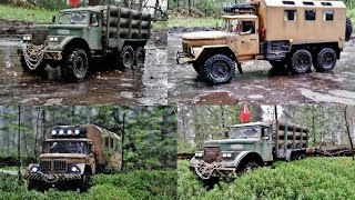 rc axial scx 10 6x6 zil 131 and kraz 255