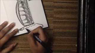 Drawing the Burj-Al-Arab!