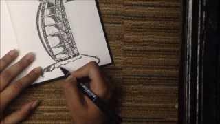 Drawing the Burj-Al-Arab!