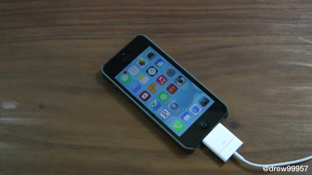 iOS 7 GM New Charging Sound on the iPhone 5