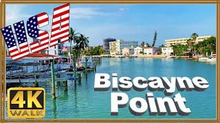 【4K】WALK Virtual hike BISCAYNE Point MIAMI Beach 2019 Florida 4k USA 4k documentary walking tour dji