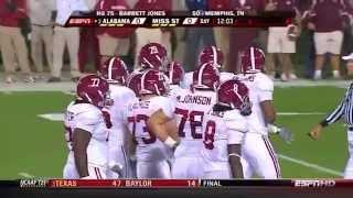 2009 #2 Alabama vs Mississippi State (HD)