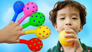 Learn Colors with Balloons Finger Family Songs - Nursery Rhymes for Kids