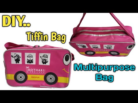 School Tiffin bag || multipurpose bag || travelling tiffin bag || diy lunch bag sewing ||