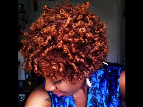Perm Rod Curls On Short Natural Hair