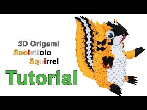Origami 3d Squirrel Tutorial 1/32 Origami 3d Scoiattolo Tutorial