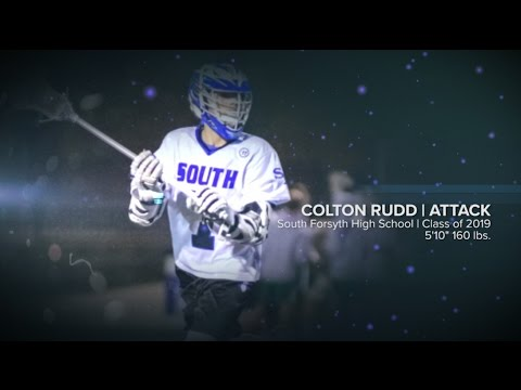 Colton Rudd - Lacrosse Recruiting Reel   First Half 2017