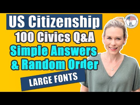 2020 100 Civics Questions In Random Order With Single Answers | USCitizenshipTest.org