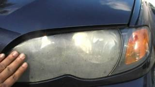 BMW 325i Ugly Hazy Headlight Restoration by Headlight Restoration Service Florida