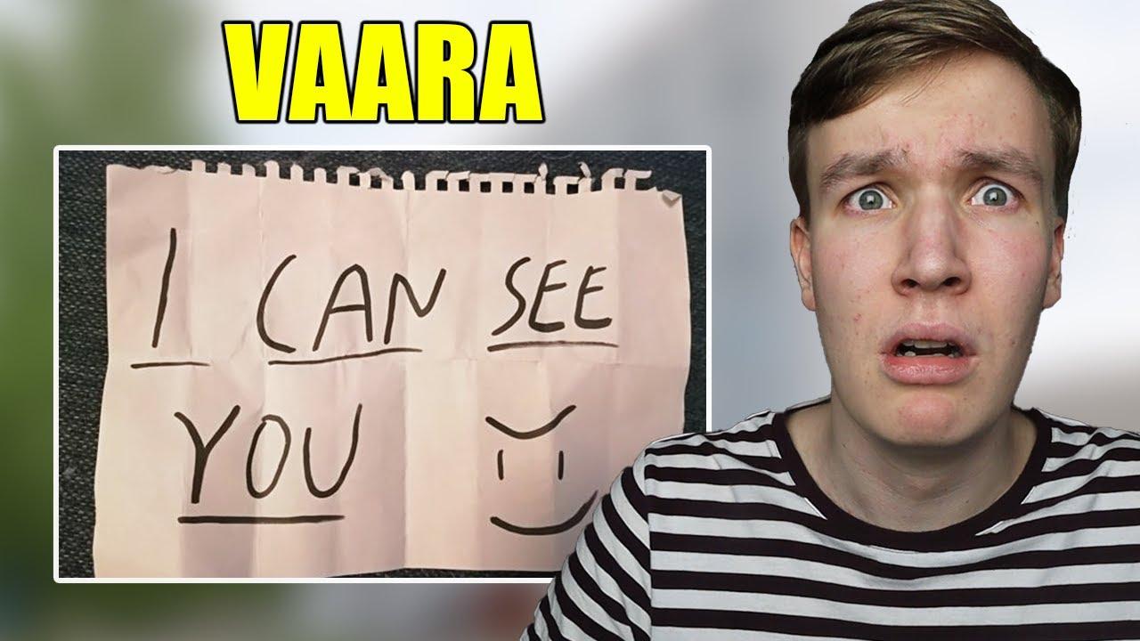 Jos näet tämän viestin ovessasi, voi poliisille olla käyttöä..