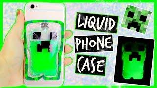 DIY Minecraft Creeper HALLOWEEN Liquid Phone Case ~ Glow In The Dark 🎃 tutorial