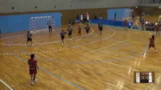 6日 ハンドボール女子 国体記念体育館Dコート 浦添×青森中央 2回戦 1