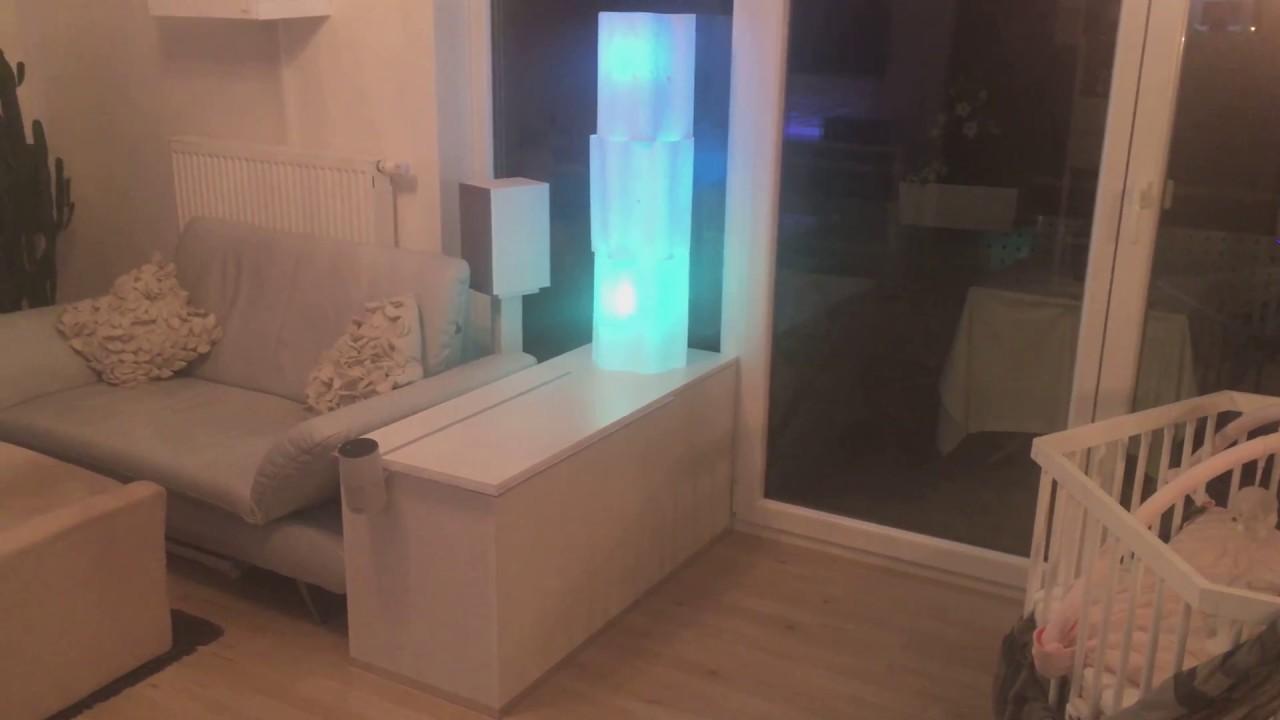 Amazon Echo In Couchtisch Schrank Mit Ikea Standleuchte Skeppund