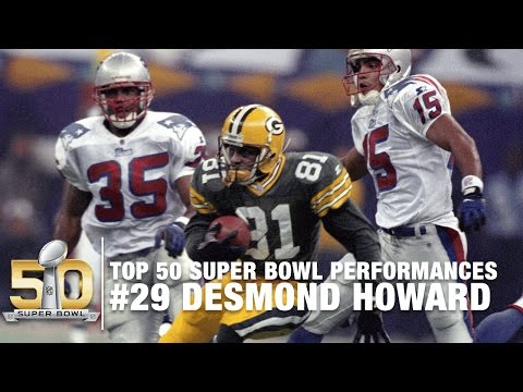 #29: Desmond Howard Super Bowl XXXI Highlights  | Top 50 Super Bowl Performances | NFL