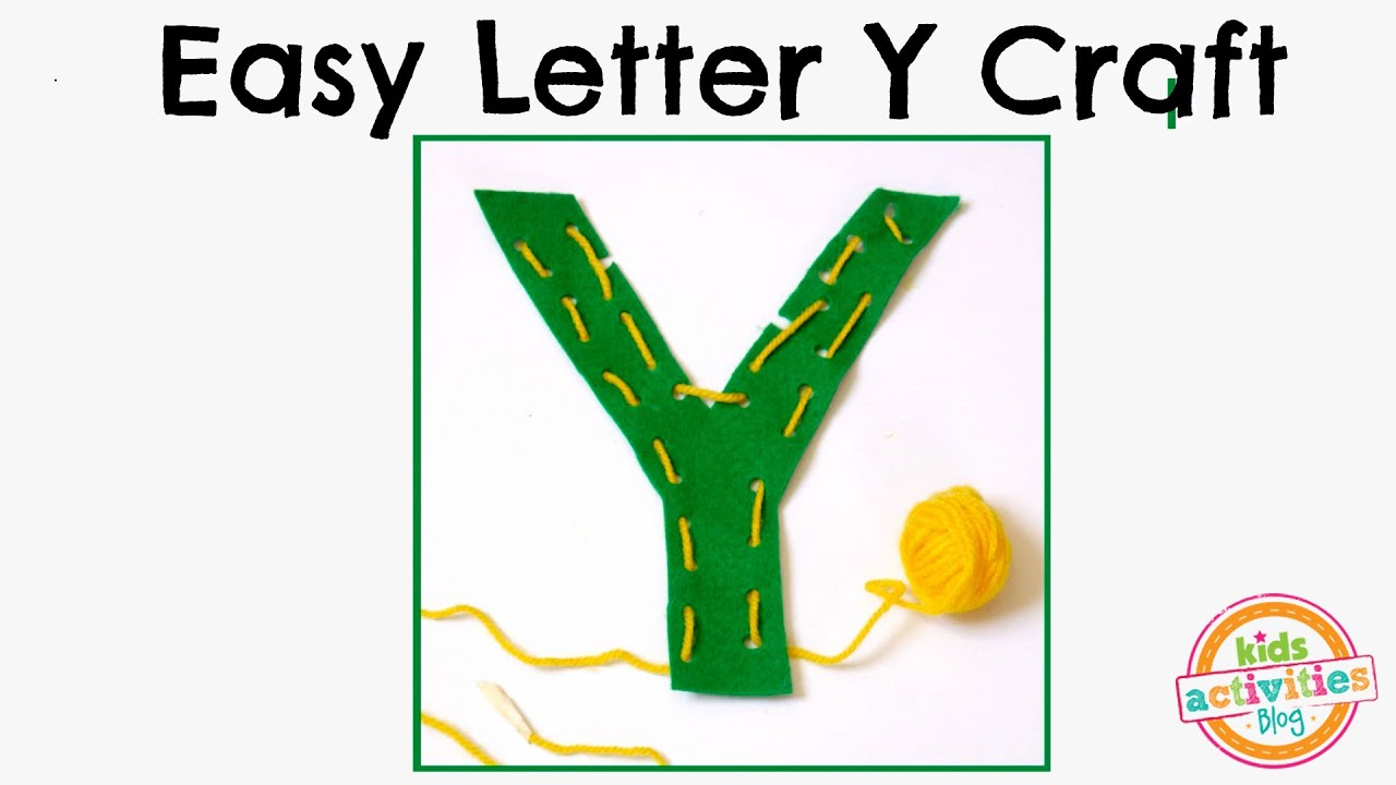 letter y crafts easy letter y craft preschool alphabet resource 23304 | maxresdefault