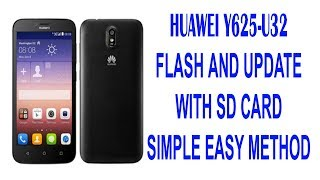 How To Flash Huawei Y625 U21 With Pc