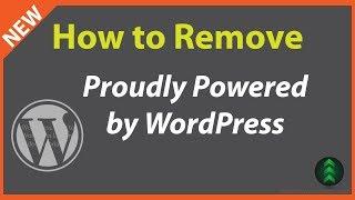 ... https://youtu.be/pq3uqu6isoe show how-to delete proudly powered by wordpress link on twentysixteen and twentyseventeen theme