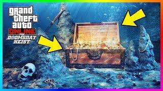 GTA Online Underwater Treasure - How Make Over $200000 An Hour After The Doomsday Heist DLC! (GTA 5)