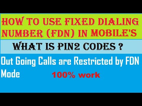 Use FDN Service in mobiles?||Outgoing Call are Restricated by FDN||Know PIN2 Code|| English/Hindi ||