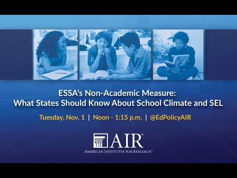 ESSA's Non-Academic Measure: What States Should Know About S